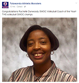 Coach Ruchelle Dunwoody named SWOC Volleyball Coach of the Year